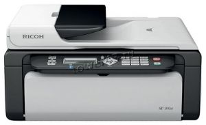 МФУ лазерное Ricoh Aficio SP 100SF (А4, 13 стр/мин, копир/GDI принтер /цв.сканер /факс/ARDF, USB2.0) Купить
