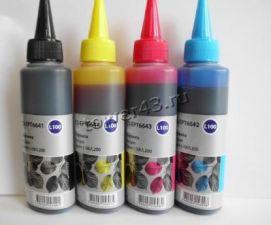 Чернила Epson CACTUS для Epson L100 комплект (3х100ml) цветные Цены