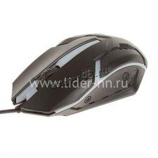 Мышь Q52/C57 игровая USB 800 /1600 /2400 /3200DPI, LED-подсветка (черная) Купить