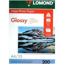 Бумага Фотобумага Lomond Glossy InkJet Paper (200гр, 25л., одност., А4, глянцевая) Купить