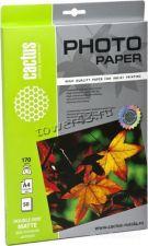 Бумага Фотобумага CACTUS Photo Paper (170гр, 50л., двухстороняя., A4, матовая) Купить