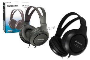 Наушники Panasonic RP-HT161E-K шнур 2м, динамики 30мм, extra bass system Купить