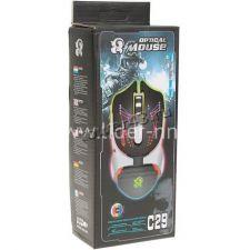 Мышь C25/C29 игровая USB 800 /1600 /2400 /3200DPI, LED-подсветка Вятские Поляны