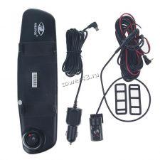 """Автомобильный видеорегистратор Prestige AV-600HD зеркало, 4"""",2камеры, 1280x720х30, 120/90гр, динамик Купить"""