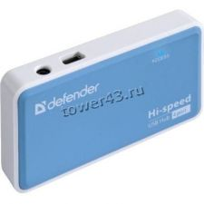 Контроллер внешний USB2.0 Hub 4-х портовый Defender QUADRO POWER, 4 порта, блок питания 2A Купить