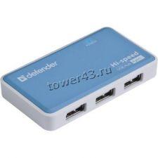 Контроллер внешний USB2.0 Hub 4-х портовый Defender QUADRO POWER, 4 порта, блок питания 2A Цена