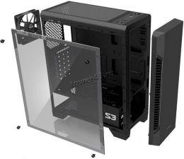 Корпус MidiTower ZALMAN S3 без блока пит, USB2.0+USB3.0, окно, 120mm вентилятор, black Цена