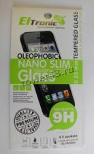 Защитное стекло на экран для iPhone4G/S 0.25мм прозрачное, твердость 9H Купить