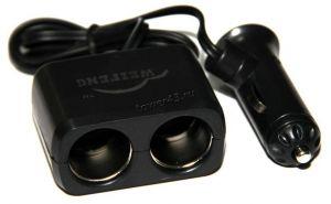 Разветвитель прикуривателя в авто на 2 устройства, со шнуром Купить