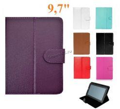 Чехол для планшета 9.7'' КНИЖКА (цвет в ассортименте) с магнитом универсальный Цена