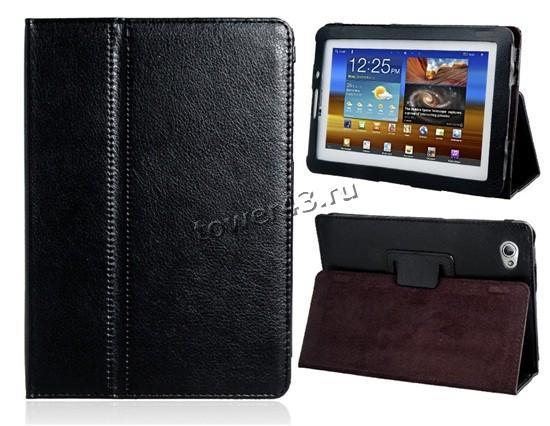 Чехол для планшета 7.7'' Samsung P6800 КНИЖКА (черный) кожа