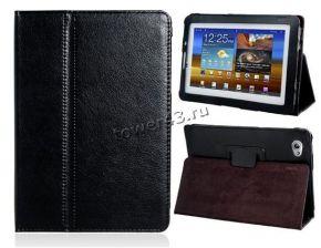 Чехол для планшета 7.7'' Samsung P6800 КНИЖКА (черный) кожа Купить