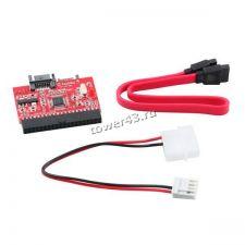 Переходник-контроллер IDE - SATA двухсторонний для подключения HDD к мат.плате +2 кабеля Купить
