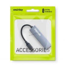 Контроллер внешний USB3.0 Hub 2-х портовый Smart Buy 2 порта SBHA-460С-G USB Type-C, металл Купить