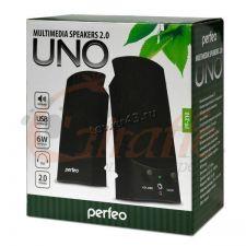 Колонки Perfeo UNO USB (черные) PF-210 Цена