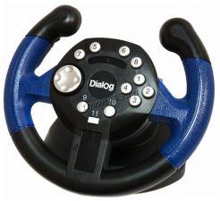 Руль+педали DIALOG GW-03VR FIRST PILOT- эффект вибрации, 2 педали, USB Купить