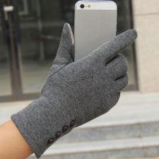 Перчатки для сенсорных экранов LZP509, женские серые Цена