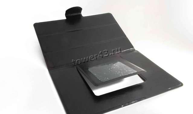 """Чехол для планшета 8"""" КНИЖКА универсальный черный на липучках"""