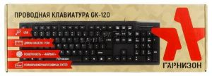 Клавиатура Гарнизон GK-120, поверхность- карбон USB черная Купить