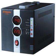 Стабилизатор напряжения EXEGATE Power DCR-2000D (диапазон 140...260В, 2 розетки, метал.корпус) Купить