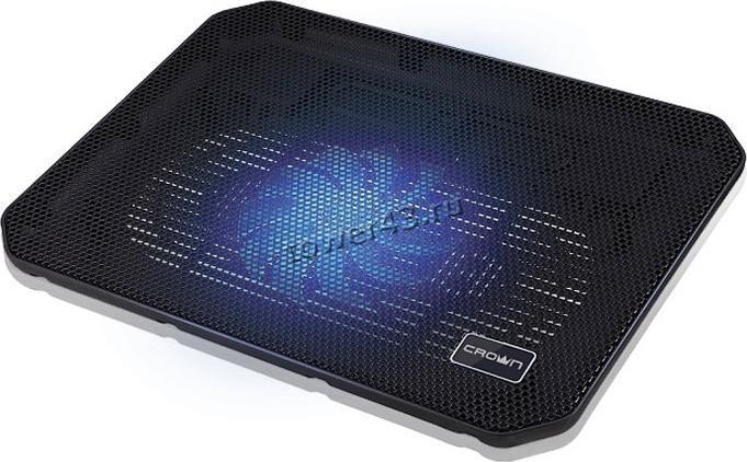 "Подставка под ноутбук охлаждающая CROWN CMLС-M10 (Black) до 17"",  вент14см, подсветка"