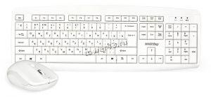 Комплект беспроводной Smartbuy клавиатура+ мышь мультимедийный 212332AG ONE (белый) Купить