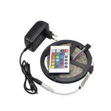 Лента светодиодная 5м (RGB, 300хLED3825) с адаптером 12В 2А, пультДУ 24кнопки Купить