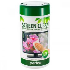 Салфетки Perfeo чистящие Screen Clean, для LCD/TFT экранов и мониторов, в тубе, 100шт. Купить