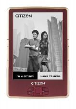 "Электронная книга Citizen Reader E620B (6"" E-Ink, 4Gb, microSD, чехол) цвет бордо Купить"