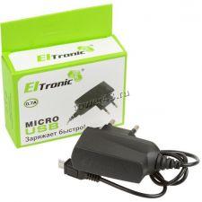 Сетевое зарядное устройство 220В -> microUSB AMT/ELTRONIC, 0,75А Цена