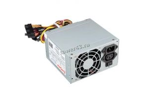 Блок питания EXEGATE 500W ATX-AA500, 8cm fan, 24+4pin, 2*SATA, 1*FDD, 2*IDE Купить