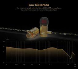 Наушники QKZ X5 вкладыши канальные, желт.металл, тканевый шнур, футляр, позол.разъем, 4вида насадок Вятские Поляны