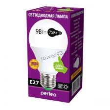 Лампа светодиодная (LED) Perfeo PF-A60 9Вт, 3000К, E27, теплый свет Ret. Купить