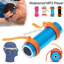 Флэш-плейер JD0552X 8Gb FMрадио /MP3, водозащита IPX8, крепеж, салфетка, наушники (цвет в ассортим) Купить