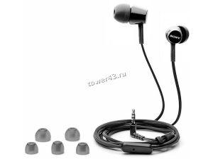 Наушники+микрофон SONY MDR-EX155AP вкладыши, 16Ом, 5-24000Гц,-штекер, черные Купить