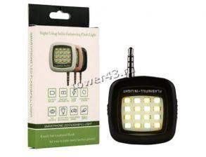 Светодиодная селфи подсветка для смартфона в разъем 3.5 aux с выключателем Купить