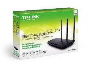 Маршрутизатор (роутер) беспроводной TP-Link TL-WR940N 802.11b/g/n, 4x100Mbit, 450Mbit/с, 3 антенны Цена