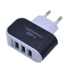 Сетевое зарядное устройство 220В -> 3xUSB 3.1A 15.5W (цвет в ассортименте) oem Цена