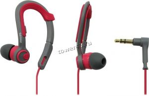 Наушники+микрофон Philips SHQ3300PK, 6-24000Hz, 107dB, 16Ohm, вкладыши для спорта,1,2м, серо-розовые Купить