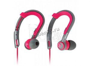 Наушники+микрофон Philips SHQ3300PK, 6-24000Hz, 107dB, 16Ohm, вкладыши для спорта,1,2м, серо-розовые Цены