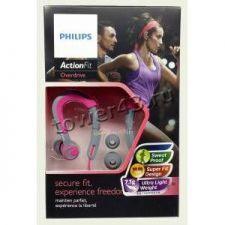 Наушники+микрофон Philips SHQ3300PK, 6-24000Hz, 107dB, 16Ohm, вкладыши для спорта,1,2м, серо-розовые Вятские Поляны