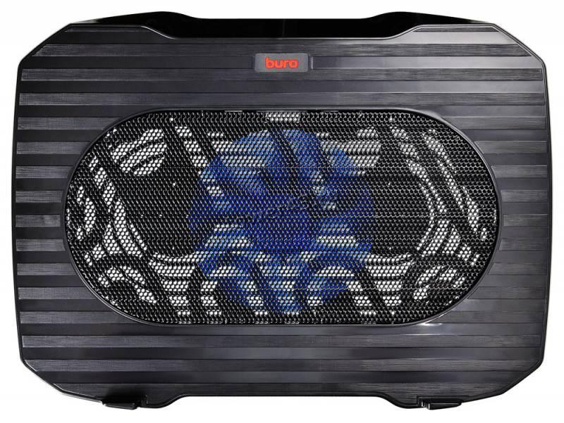 """Подставка под ноутбук охлаждающая Buro BU-LCP156-B114 с LED подсветкой 15,6"""", 1*Fan 14cm"""