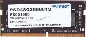 Память 8Gb SO-DDR4 PC4 21300 2666MHz 1.2В Patriot Retail Купить