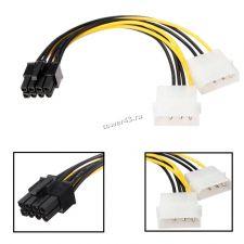 Переходник питания для подключения видеокарт PCI express 12B (F8pin -> 2*M4pin) Купить