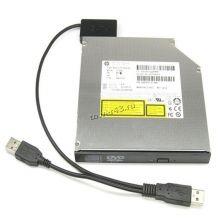 Переходник-ковертер внешний для DVD приводов miniSATA 7+6pin на USB2.0 с доп.питанием USB Цена