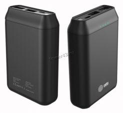 Внешний мобильный аккумулятор Cactus CS-PBFSST-20000 20 000 mAh, 2,4A+2A пластик (графит) Купить