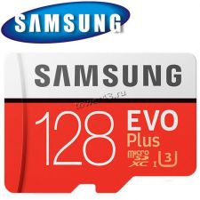 Память microSDXC 128Gb class10 Samsung EVO Plus, UHS-I U3 4К 100Mb/s с адаптером Retail Купить
