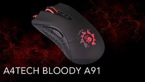 Мышь A4Tech Bloody A91 BLAZING, USB (черная) 8 кн, 4000 dpi, игровая Купить