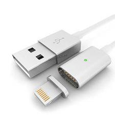 Кабель Lightning 8pin для IPhone 1м магнитный 2.4А, быстрая зарядка и перед.данных, индикация Retail Купить