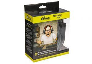 Наушники+микрофон Ritmix RH-534M, с регулятором громкости, шнур 2м, динамики 40мм Цена